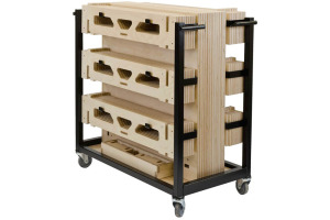 12 Square Metre 200mm Rise Portable Slot-together Modular Stage System with Trolley by StackaStage