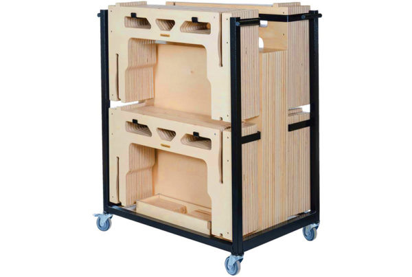 12 Square Metre 600mm Rise Portable Stage System and Trolley by StackaStage