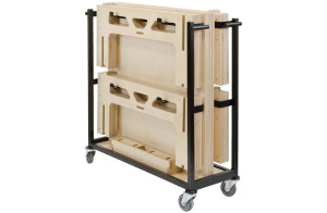 4 Square Metre 450mm Rise Portable Stage System with Trolley by StackaStage