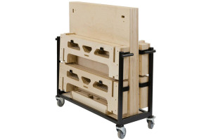 6 Square Metre 300mm Rise Portable Stage System with Wheeled Trolley by StackaStage
