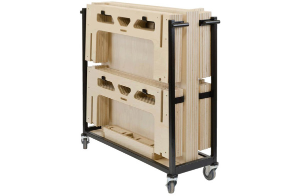 6 Square Metre 450mm Rise Portable Easy-to-Assemble Stage System with Trolley by StackaSTage