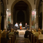 StackaStage portable staging system in use in St Cuthberts Church