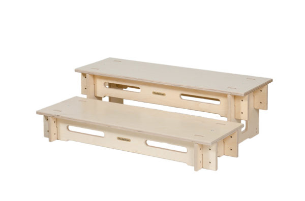 Slot-together Wooden 450mm High Step Set for StackaStage Stage System