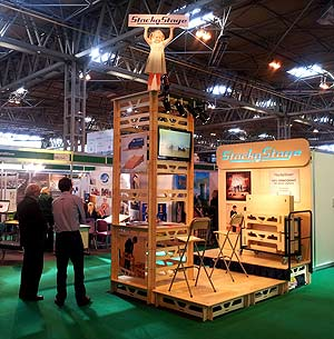 The complete StackaStage exhibit at Education Show in Birmingham