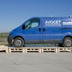 Avocet van on strong and sturdy StackaStage Stage System