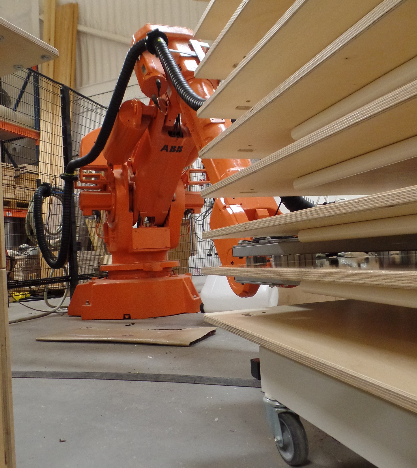 New Automated Machinery in our StackaStage Warehouse stacking new stages